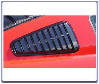 05-09 Mustang ABS Plastic Window Louvers