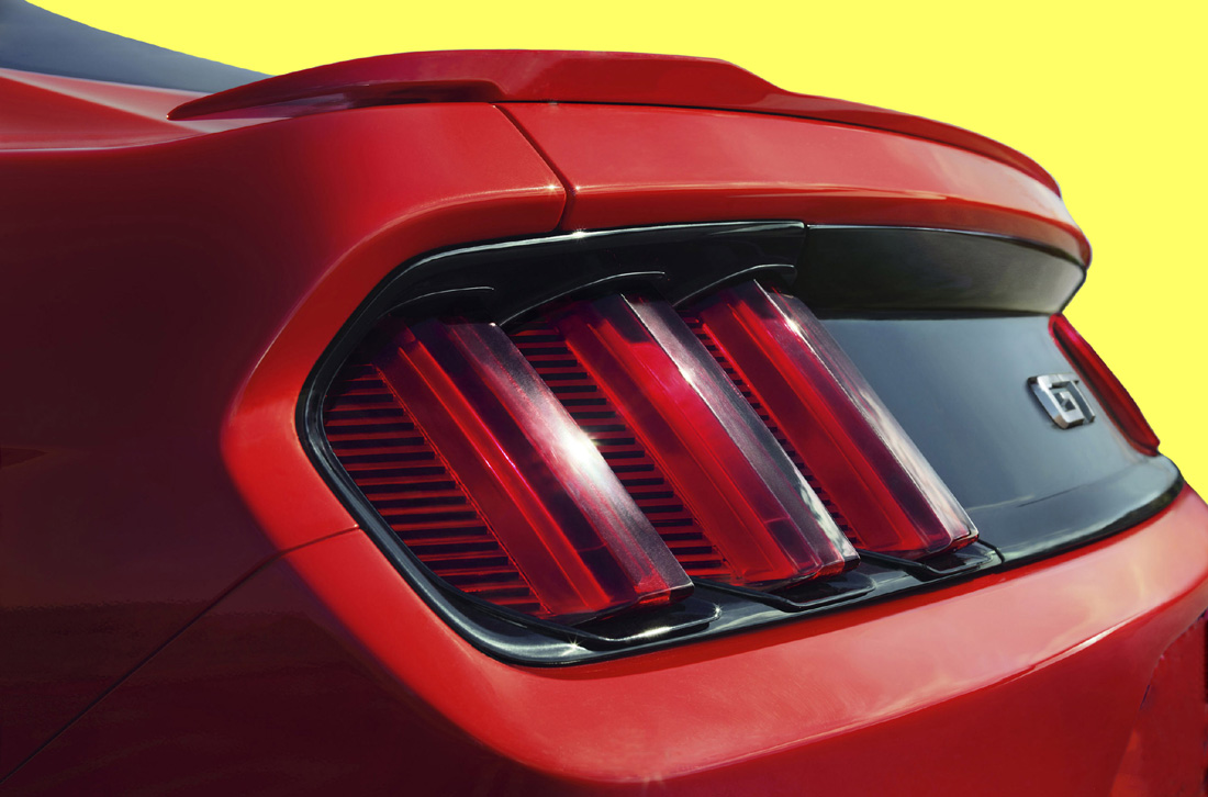 2015-18 Mustang Coupe Factory Style Flush Mount RAISED BLADE Spoiler Wing (Paint Options)