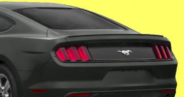 2015-16 Mustang Coupe Hard top Flush Mount BLADE Spoiler Wing (Paint Options)