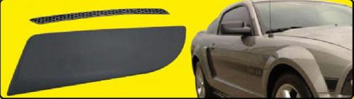 05-09 Mustang GT/V6 Side Scoops ABS PLASTIC (Paint Options)