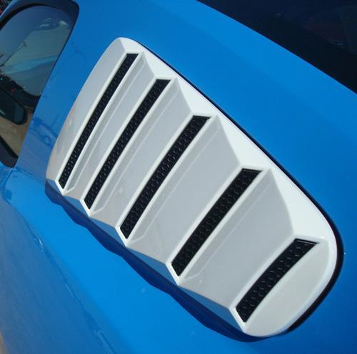 2005-2009 Mustang GT/V6 Quater Window Closed Louvers PRIMERED (PAINT OPTIONS)