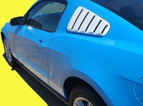 2005-2009 Mustang GT/V6 Quater Window Louvers PRIMERED (Paint Options)