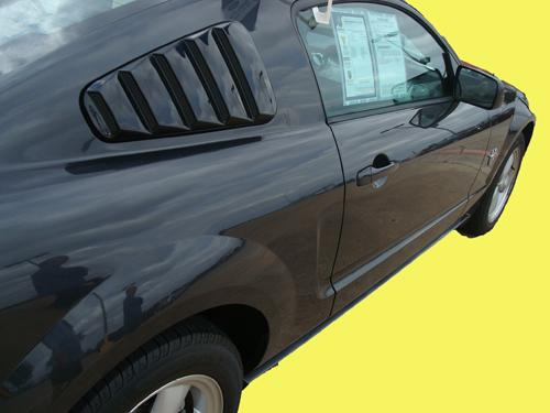 2010-14 Mustang Quarter Window Louvers 5 SLOT CLOSED LOUVER w/Mesh Vent inserts ABS (PAINT OPTIONS)