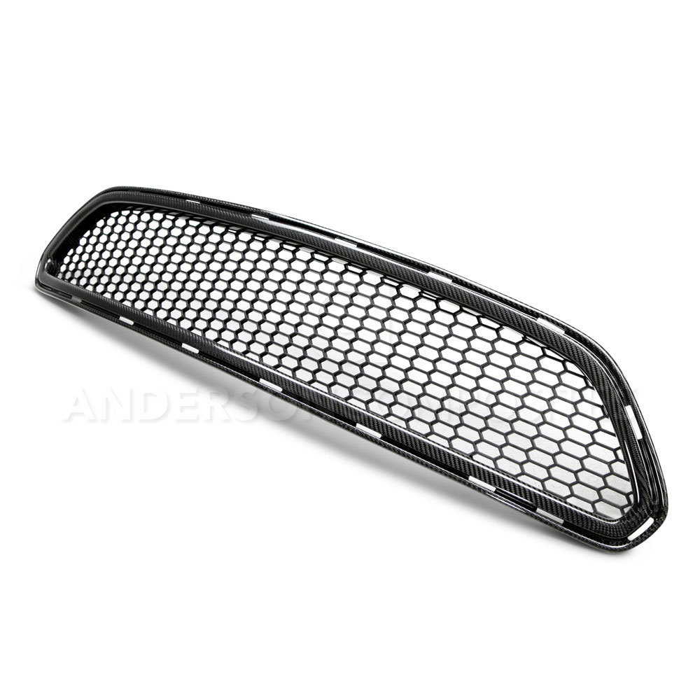 2015-16 Mustang Type-AE Carbon Fiber Upper Grille - (Fits all models) CARBON FIBER