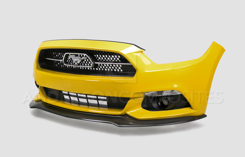 2015-17 Mustang Carbon Fiber CHIN SPOILER AC (Fits all 15+ Models) CARBON FIBER