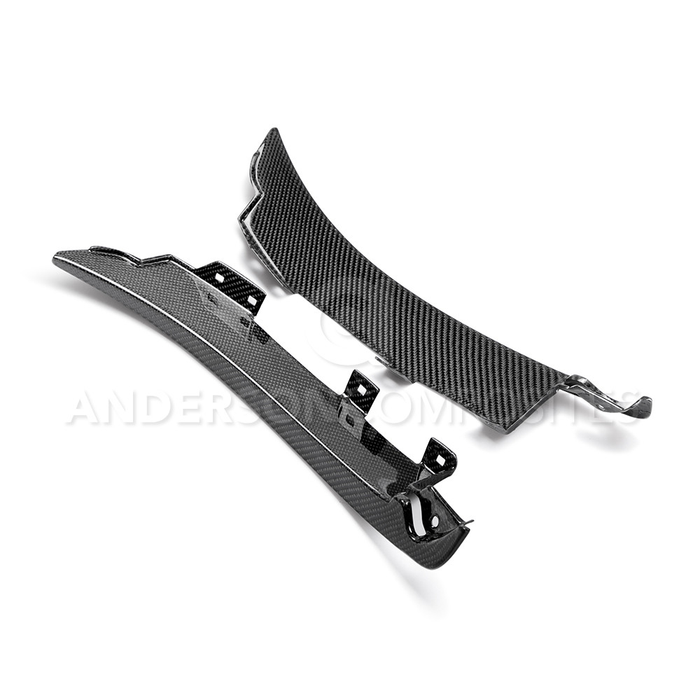 2015-2017 GT350/GT350R Mustang Front Splash Guards - CARBON FIBER