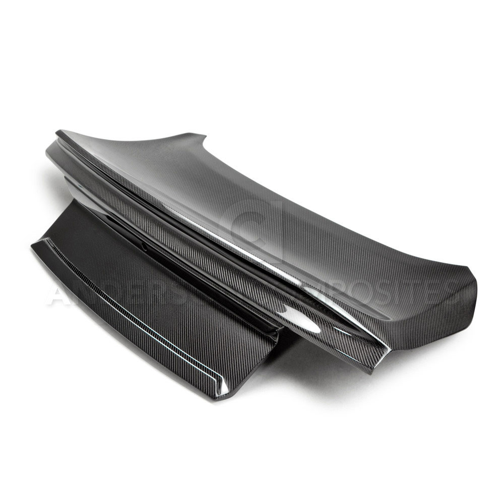 2015-17 Mustang Carbon Fiber Trunk Deck Lid with Integrated Spoiler (Fits All Hardtop Models) CARBON FIBER