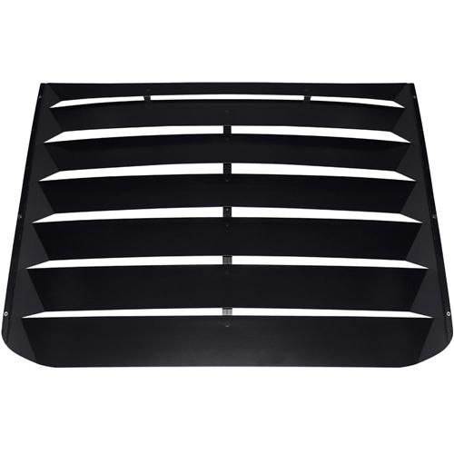 2015-2016 Mustang Rear Window Louvers - Aluminum Black