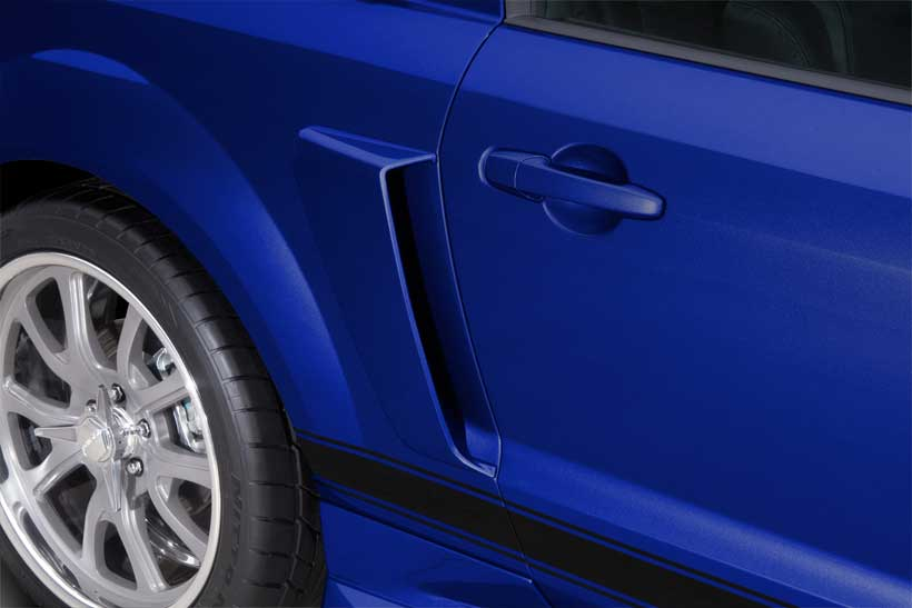 2005-2009 Mustang Lower Eleanor Style Door Scoops (Pair) Polyurethane