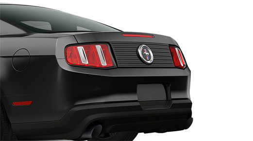 2010-2012 Mustang Molding Rear Deck Lid Panel Black With PONY V6 Badge Embem Included