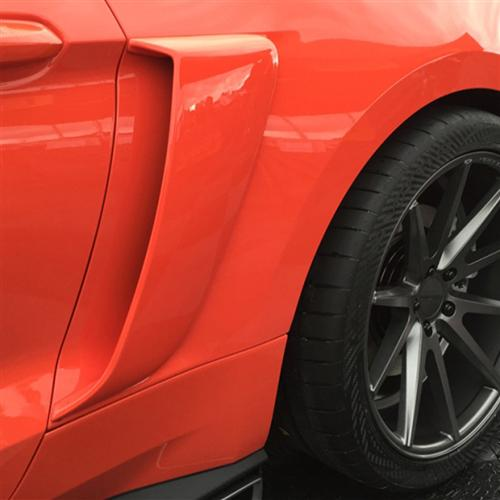 2015-16 Mustang Lower Door Scoops (Fits all models)