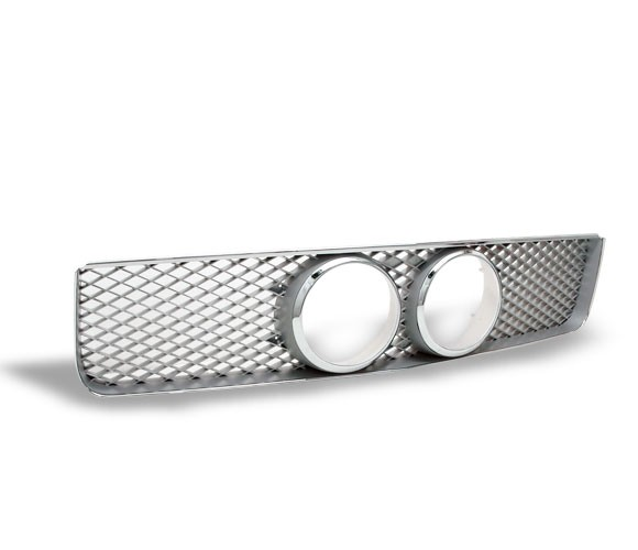 "05-09 Mustang Center Fog Light Grills ""MESH STYLE"" GT KIT - Chrome"