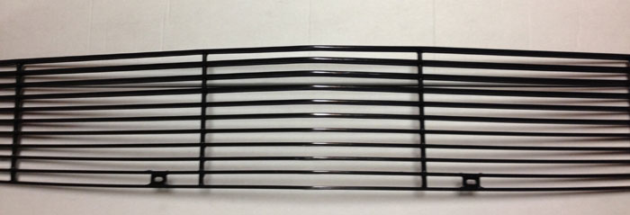 05-09 Mustang V6 - FULL REPLACEMENT Upper Billet Grille 11 Bar - BLACK - NEW ITEM