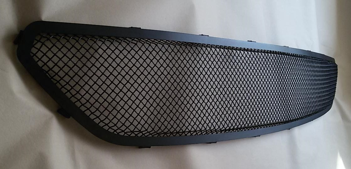 2015-2017 - Upper MESH Full Replacement 3D Formed MESH Grilles - BLACK (GT, V6, ECO BOOST, 50th) FULL MESH LOOK