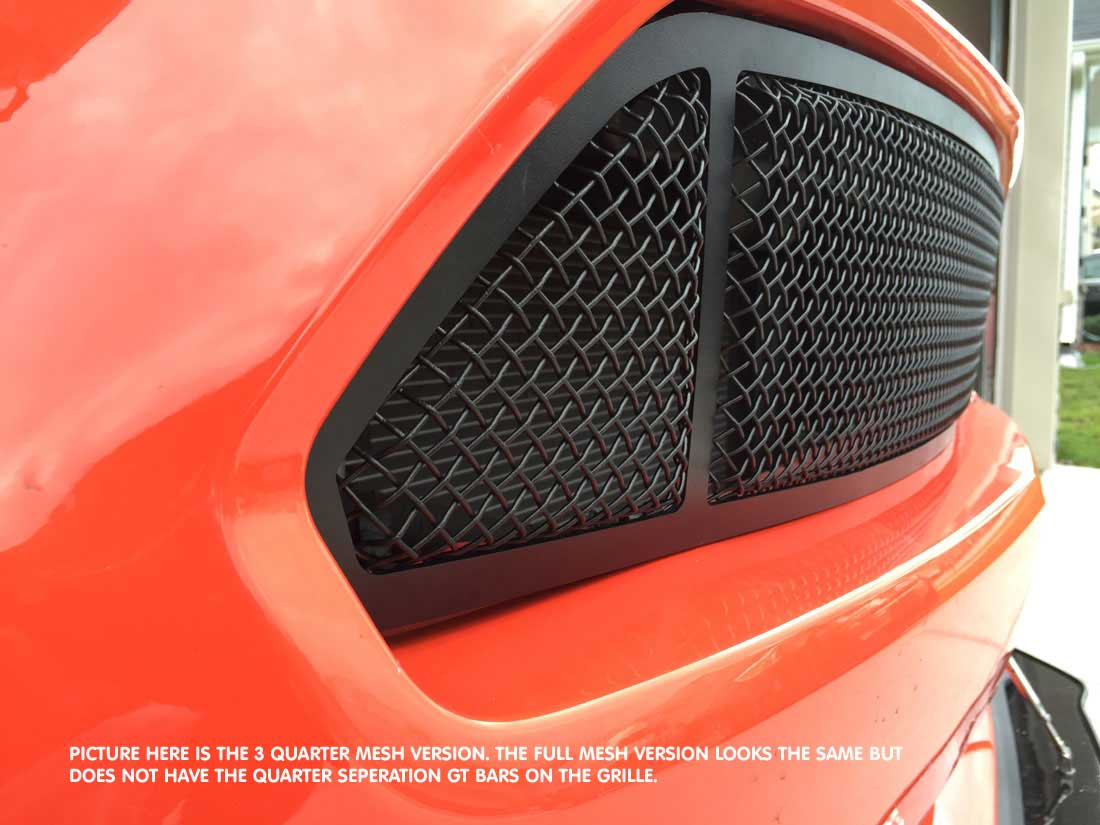 2015-2017 - Lower MESH Full Replacement 3D Formed MESH Grilles - BLACK (GT, V6, ECO BOOST, 50th) FULL MESH LOOK