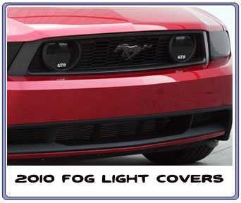 2010-2012 Mustang Headlight Covers & Fog Light Covers GTS SMOKED (Pair)