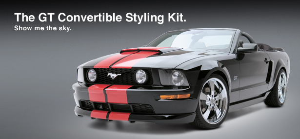 05-09 Mustang 3D Carbon GT Styling kit 5PC w/3d 500 Wing