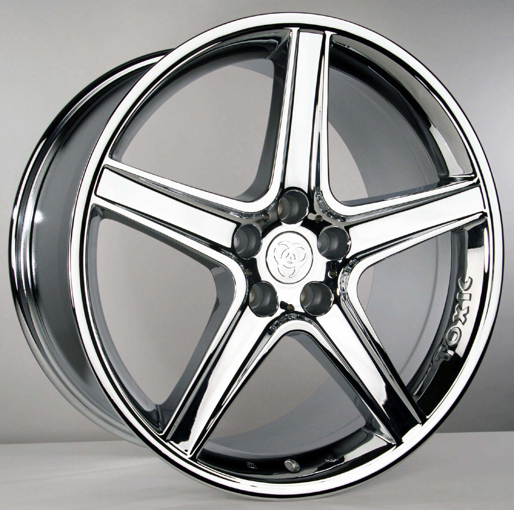 "TOXIC Wheel - CHROME - 5 Lug 05-13 (sizes available 20"" Staggered) (LIMITED SETS LEFT DONT MISS OUT)"