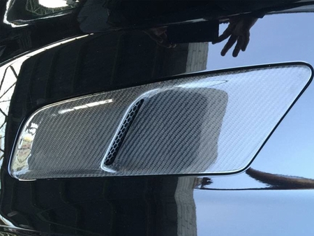 2015-2017 Mustang OE Style Hood Vents - Carbon Fiber