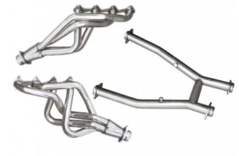 2005-2010 Mustang GT 4.6L Long Tube Headers - Stainless Steel W/H-Pipe - PYPES