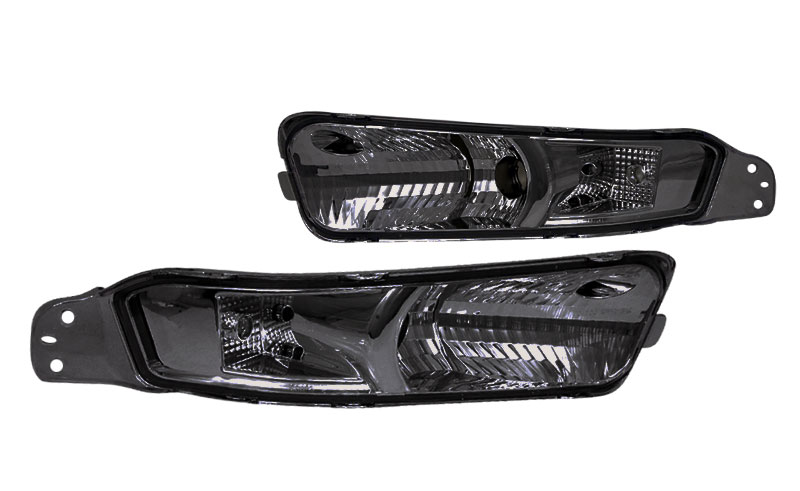 2005-09 Mustang Bumper Lights - Smoked Lens - NO AMBER (Pair)