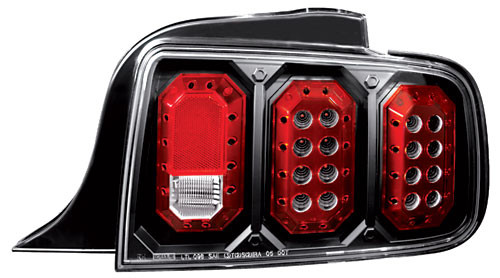 05-09 Mustang Taillights Gen 2 - Black (Pair)