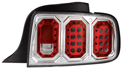 05-09 Mustang Taillights Gen 2 - Chrome (Pair)