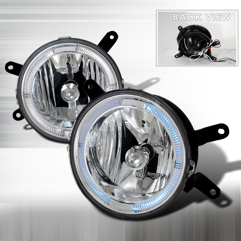 05-09 Mustang Fog Lights - HALO - CLEAR CHROME (GT only) (Pair)