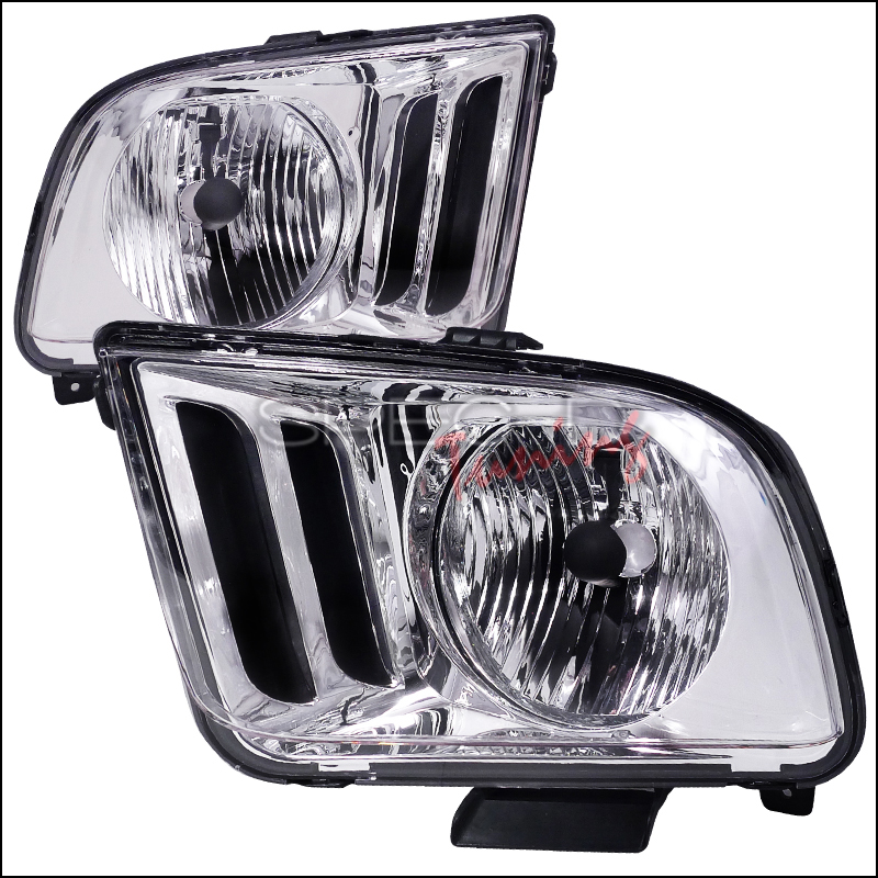 05-09 Mustang Headlights OE Style CHROME w/Clear Lens (pair)