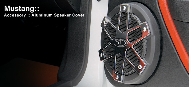 05-09 Mustang 3D Carbon Billet Aluminum Speaker Covers