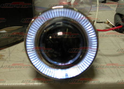 "Ultra White 3"" ROUND Fog Lights with HALO Ring"
