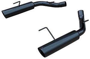 2005-2010 Mustang GT 4.6L Pype Bomb Axle-Back Muffler Delete System - PHANTOM BLACK - by PYPES