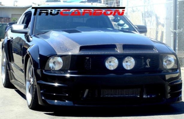 2005 2009 Gt V6 Mustang Carbon Fiber Hoods Mrbodykit Com The Most