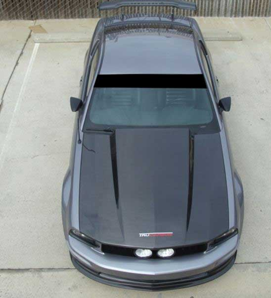 05-09 Mustang A49-3 Hood 3 INCH COWL GT/V6 (CARBON FIBER) by Trufiber