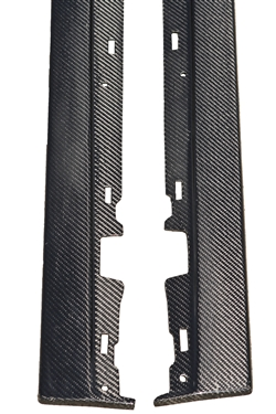 2005-2009 Mustang Carbon Fiber LG109 Side Skirt Splitters (V6/GT/GT500) - CARBON FIBER - Pair