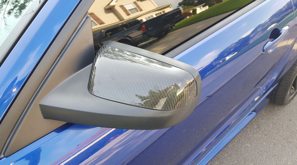 2005-2009 Mustang TruCarbon Mirror Cover (Carbon Fiber)