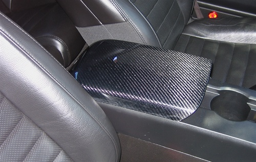 2005 2009 mustang carbon fiber arm rest cover for Carbon fiber mustang interior parts