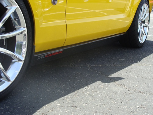 2005-2009 Mustang TF XR2 Style Side Skirt - CARBON FIBER - Pair