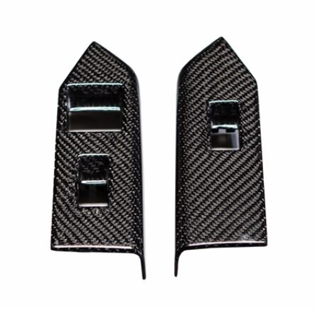 2010-2014 Mustang CONVERTIBLE Carbon Fiber LG126 Window Switch Covers (V6/GT/GT500)