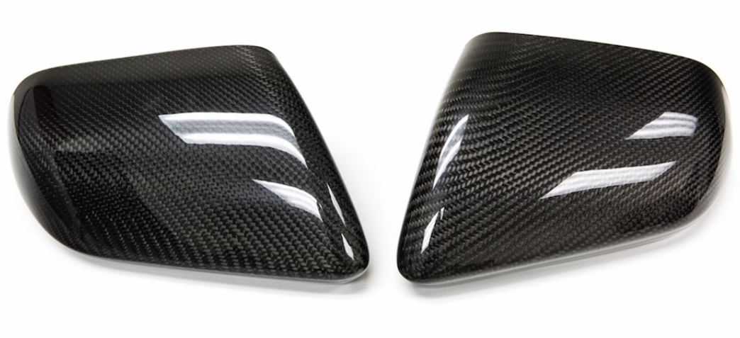 2015-20 Mustang Carbon Fiber LG242 Mirror Covers - NO Turn Signal Light Cut-out (EB/V6/GT)