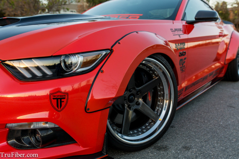 2015-17 Mustang Fiberglass LG267-T Fender Flares – FRONT 2pc (left/right) (Fits all models)