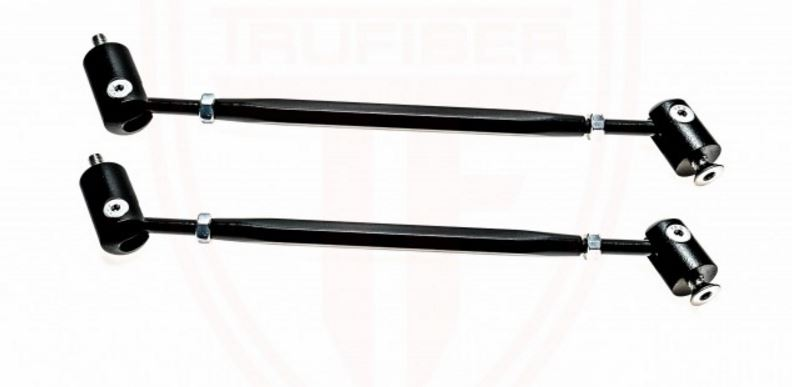 Universal Front bumper lip and chin Splitter Rods - Black (Pair)