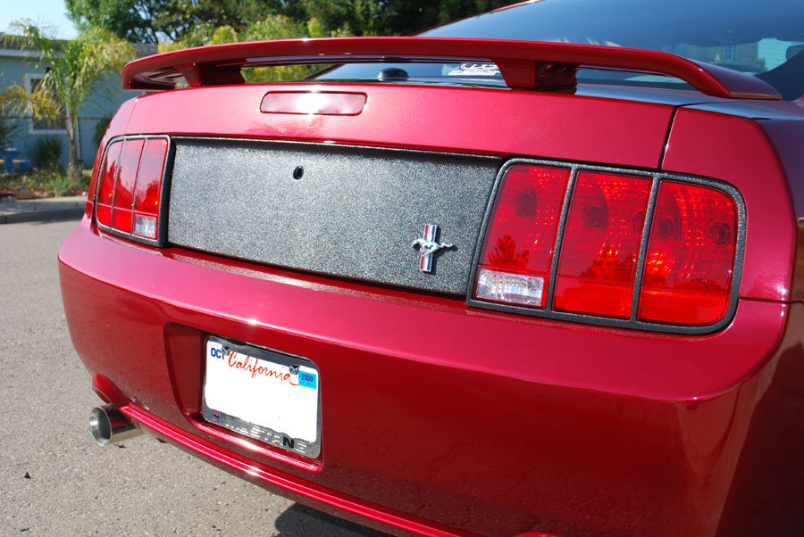 05-09 Mustang Taillight Trim Kit for OE Taillights - Textured Black