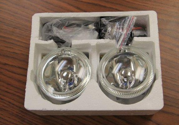 "Chrome 4"" ROUND Fog Light With HALO RING"