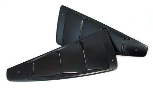 2005-2009 Mustang Quarter Window Louvers V1 - ABS Plastic