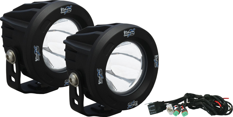 "3.25"" Round Fog Light Optimus Series LED Driving Lights - 693 Feet of Usable Light from 10-watt LED"