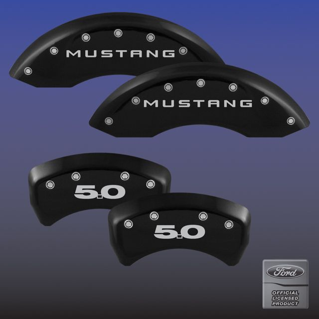 2011-2014 Mustang GT 5.0 Caliper Cover (Set of 4) - BLACK - 5.0 Logo