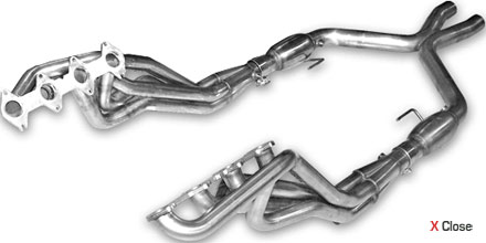 "2005-09 Mustang GT American Racing 1 5/8"" Long Tube Headers w/ X Pipe - Non Catted"