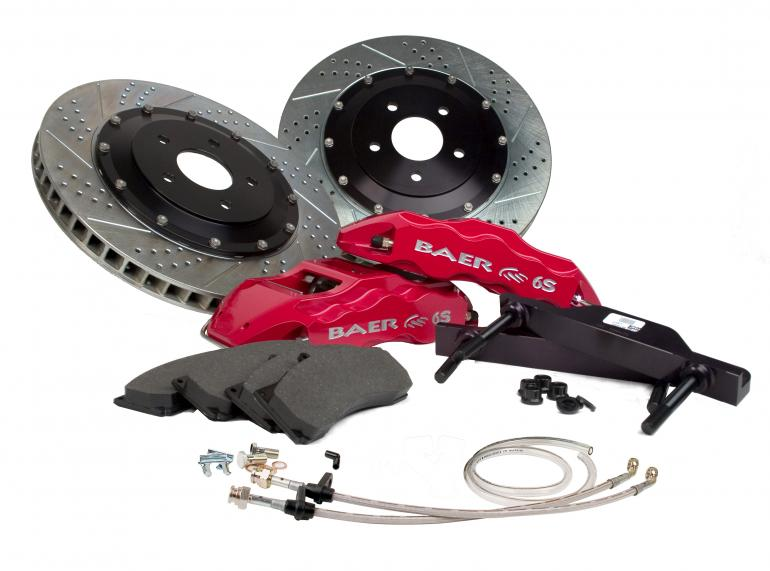 2005-2011 Mustang GT Baer Extreme Plus 14 Inch Front Brake Kit - 6 Piston Calipers - 7 COLOR CHOICES