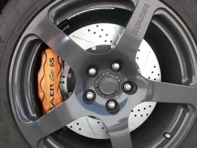 2005-2011 Mustang GT Baer Extreme Plus 14 Inch Rear Brake Kit - 6 Piston Calipers - 7 COLOR CHOICES